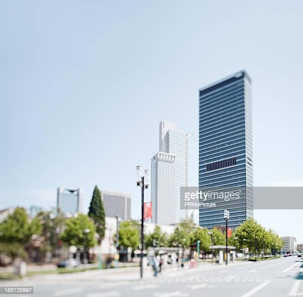 Moderne Stadt Skyline