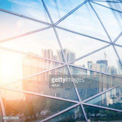 Moderne Stadt urban futuristische Architektur-Darstellung : Stock-Foto