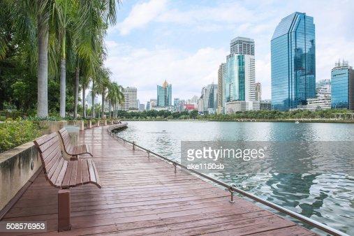 Moderne Blick auf die Stadt von Bangkok, Thailand.  Stadtansicht : Stock-Foto