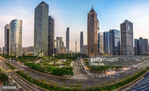 Modern cityscape during daytime, Guangzhou, Guangdong, China