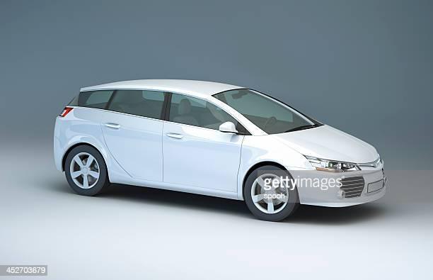 Moderna de automóvil compacto en un estudio