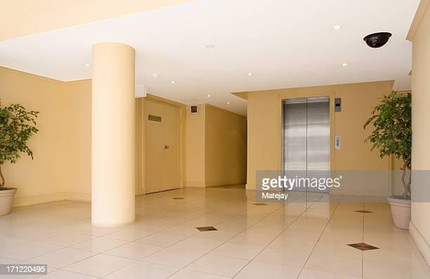 Modern corporate lobby