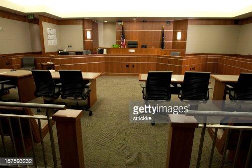 モダンな法廷ピンぼけギャラリーのポイントからの眺め