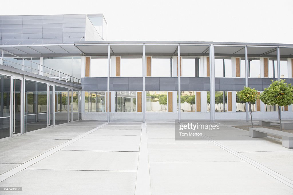 Modern courtyard and office building : Stock Photo
