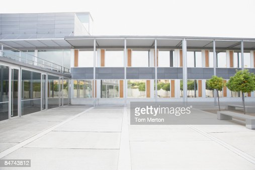 Modern courtyard and office building