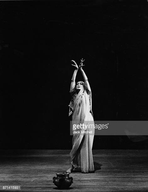 Modern dance pioneer Ruth St Denis performing 'Incense' at Jacob's Pillow summer 1961