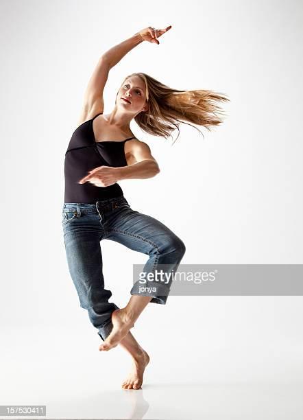 modern dancer spinning