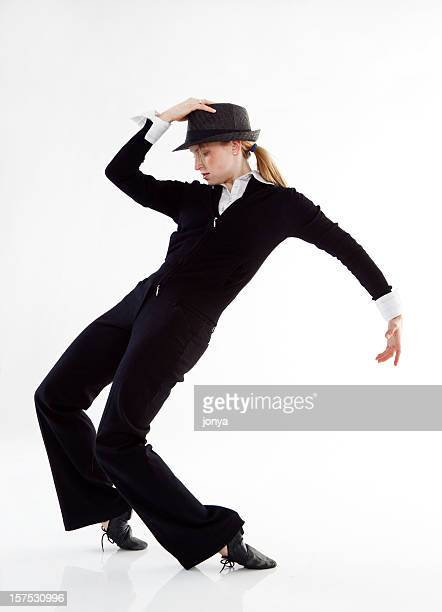 modern dancer standing on her toes