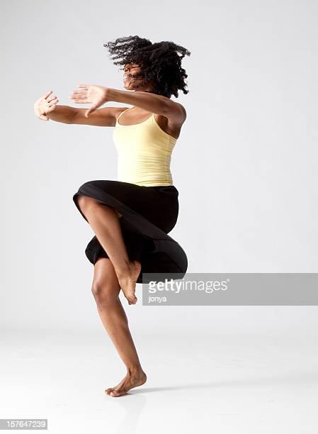 modern dancer twirling