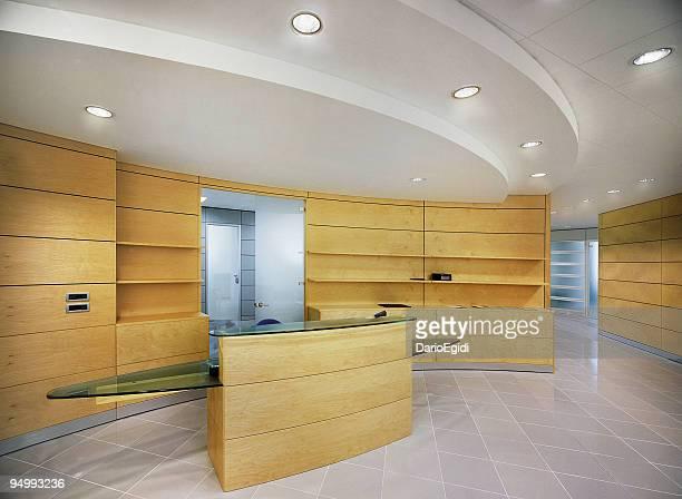 design moderne de l'entrée, la réception du real estate company