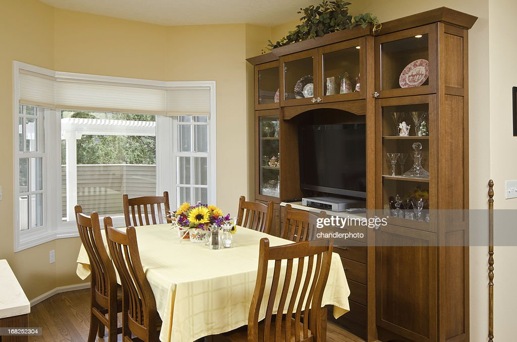 Modern Dining Room With China Cabinet : Stock Photo