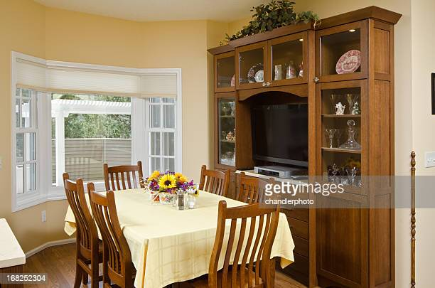 Modern dining room with China cabinet