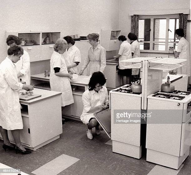 A modern domestic science classroom York Yorkshire 1962