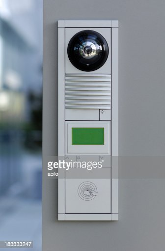 Modern door security system for access cards and intercom