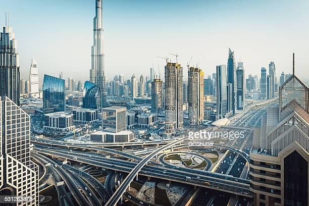 Die moderne Skyline von Dubai, Vereinigte Arabische Emirate
