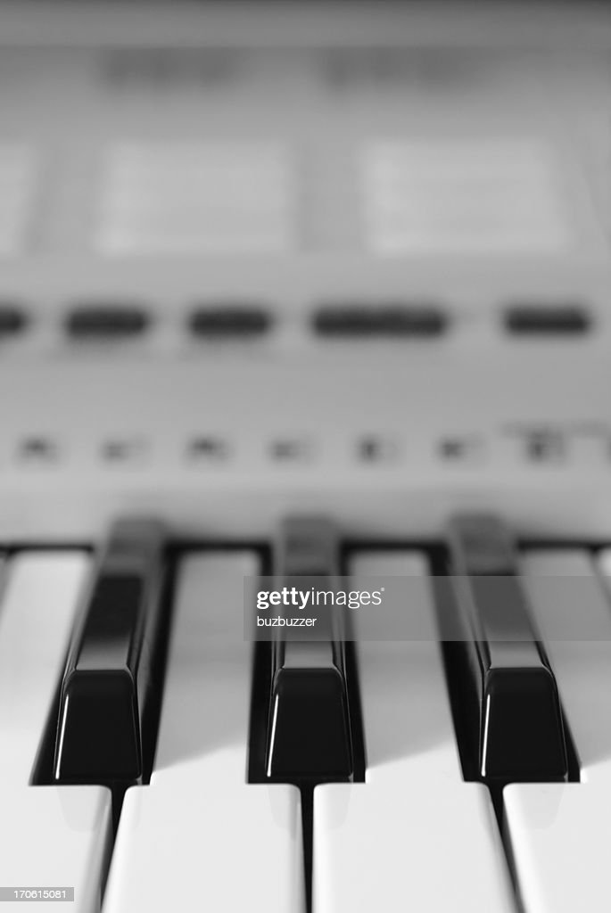 Modern Electronic keyboard keys : Stock Photo