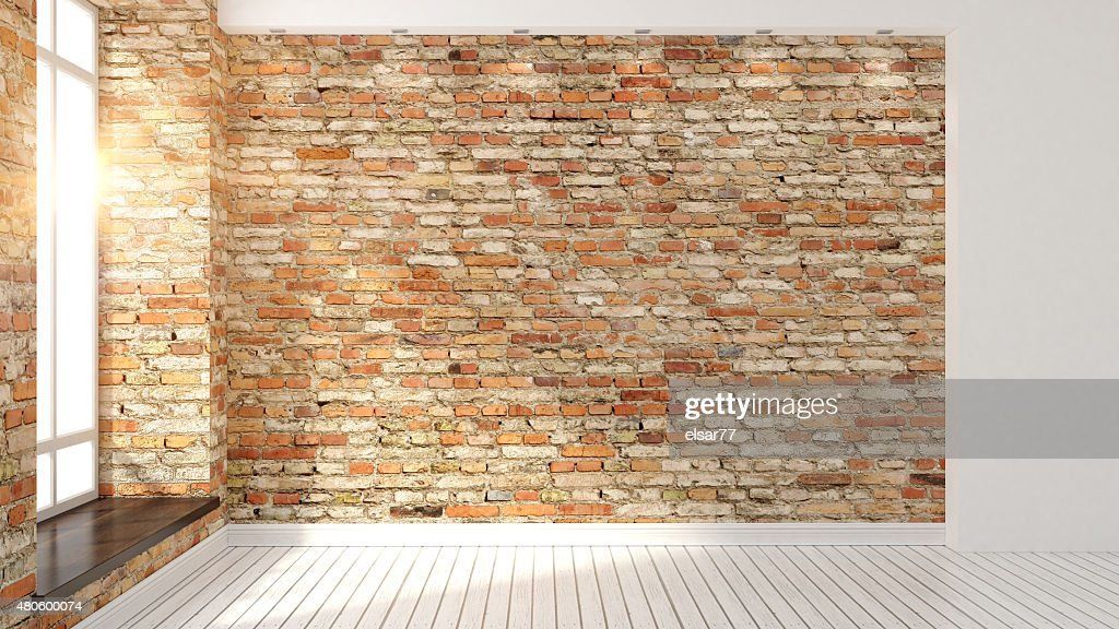 Modern empty interior : Stock Photo