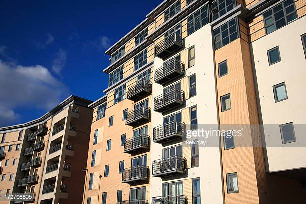 Modern executive apartment building with balconies