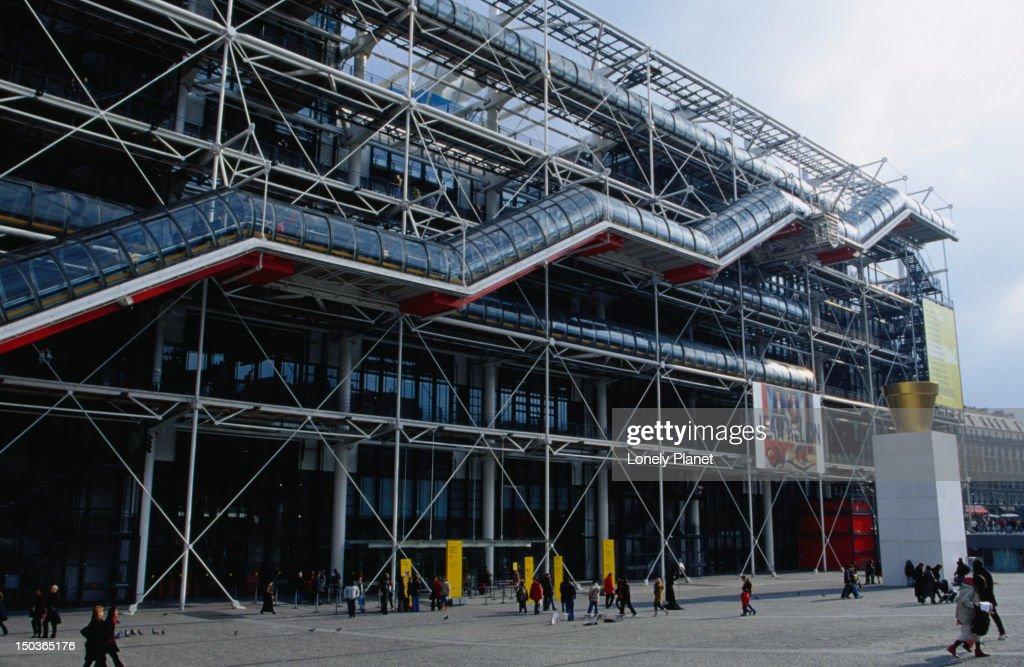 Modern facade of Centre Pompidou.