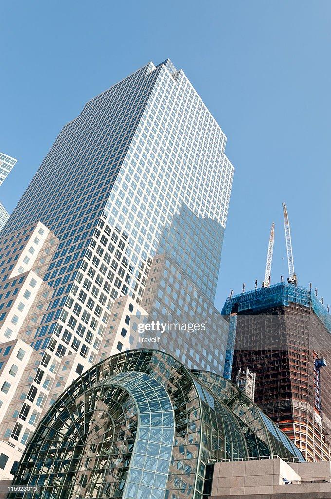 Modern facade of World Financial Center : Stock Photo