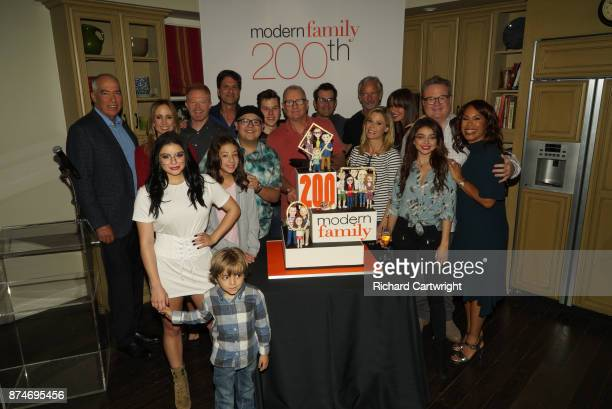 FAMILY 'Modern Family celebrates its milestone 200th episode Celebration JESSE TYLER FERGUSON JEREMY MAGUIRE ARIEL WINTER RICO RODRIGUEZ AUBREY...