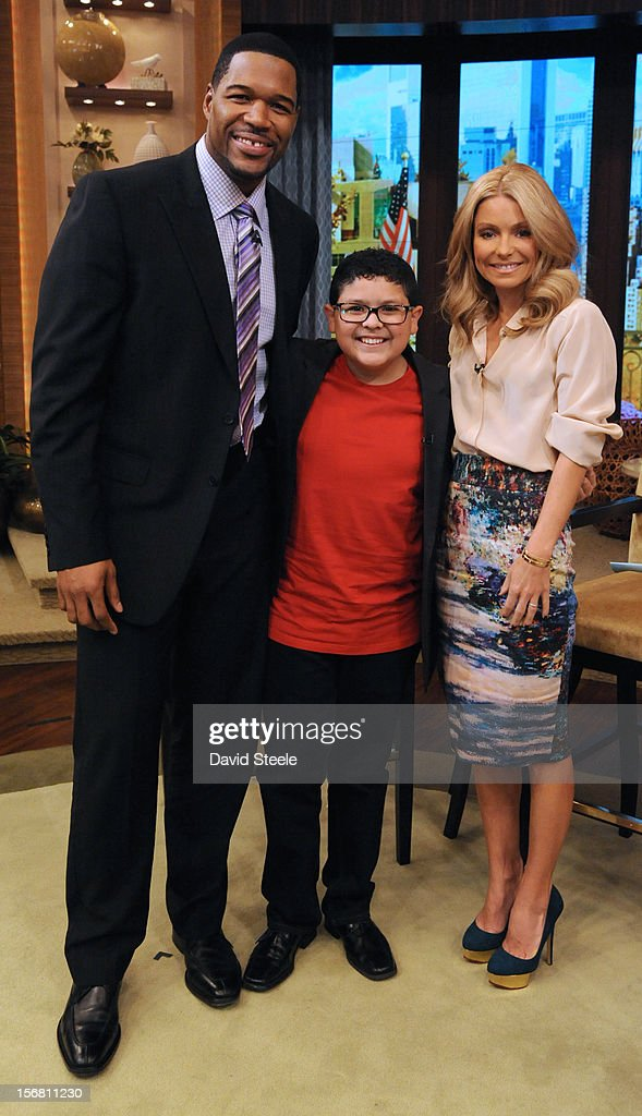 "MICHAEL -11/20/12 - ""Modern Family"" star RICO RODRIGUEZ discusses his book, ""Reel Life Lessons…So Far."" on the newly-rechristened syndicated talk show, LIVE with Kelly and Michael,' distributed by Disney-ABC Domestic Television. MICHAEL"