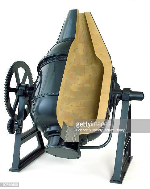 Modern fibreglass model of Sir Henry Bessemer�s converter Bessemer learned metallurgy working in his father�s foundry In 1856 in response to demand...