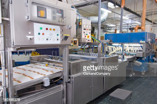 Modern Food  Factory  Production Line Clean and Bright