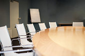 Modern furnished conference room beautifully designed close-up business