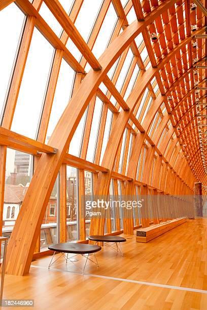 Bâtiment moderne intérieur futuriste