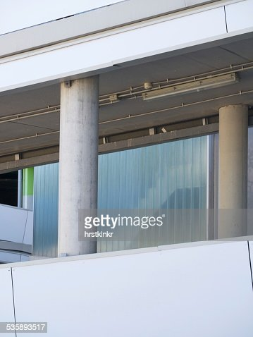 modern garage building : Stock Photo