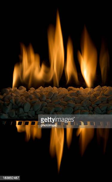 modern gas fire flames