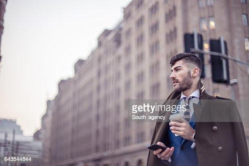 Modern gentleman in suit