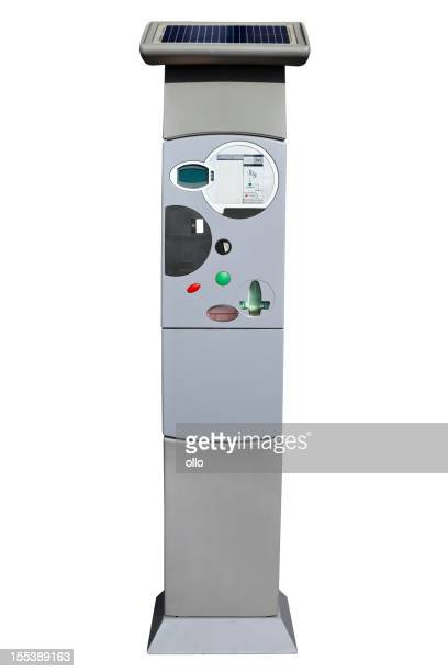 Modern german parking ticket machine - clipping path included