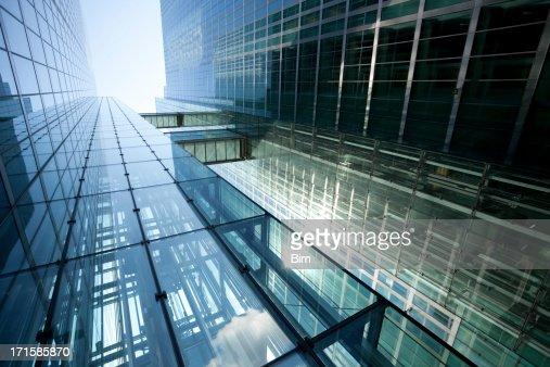 Modern Glass Building in Sunlight