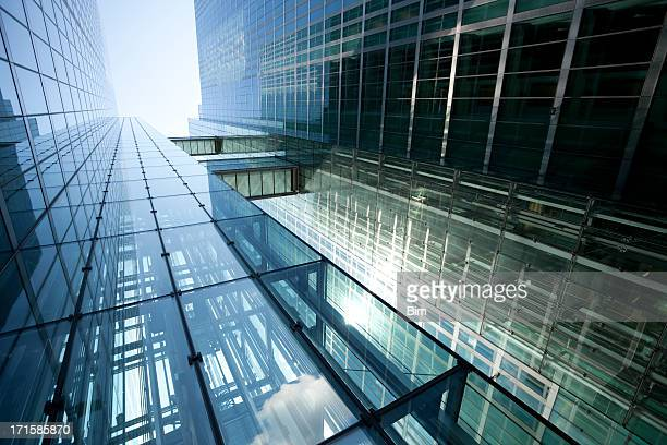 Modern Glass Building in Sunlight