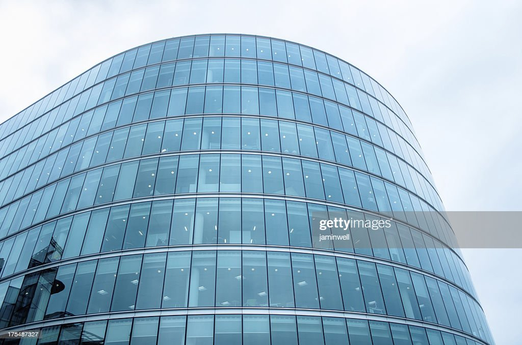 Modern Glass Building With Curved Facade Stock Photo Getty Images