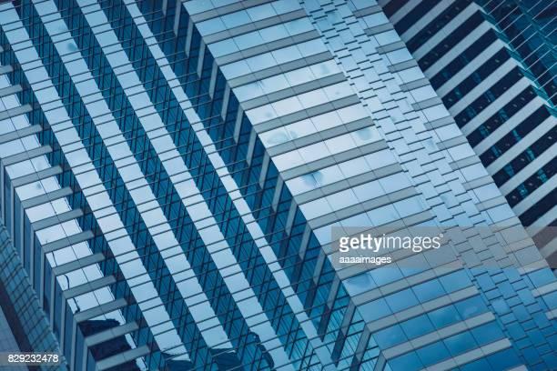 modern glass building,detail shot