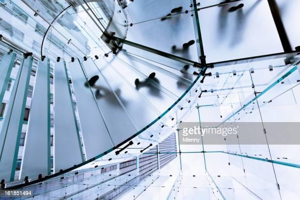 Moderne Glas-Treppe Footprints