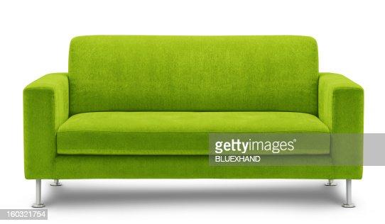 modern green sofa design on white background stock photo   thinkstock