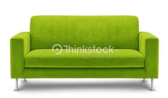 Grüne Sofa Isoliert Auf Weißem Hintergrund Stock-Foto ...