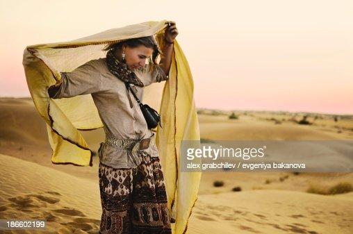 Modern gypsy women in a thar desert, India