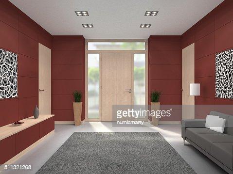 Moderner eingangsbereich innen  Moderne Eingangsbereich Fornt Tür Innen Stock-Foto | Thinkstock