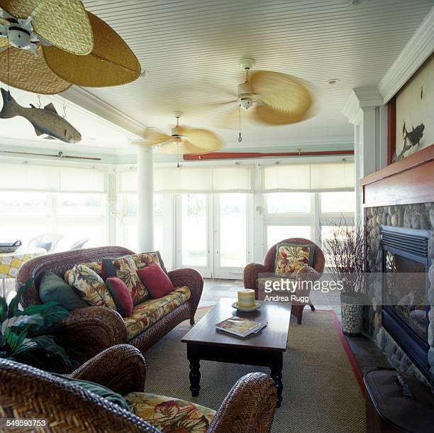 Modern hawaiian style living room with