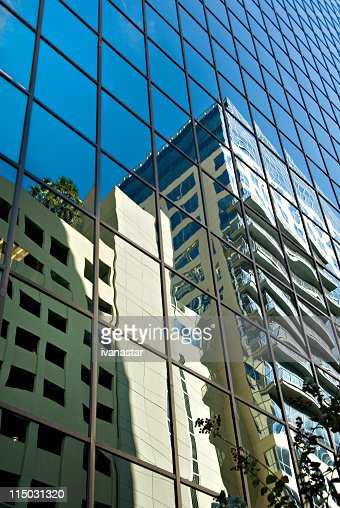 Modern High Rise Building with Reflection : Stock Photo