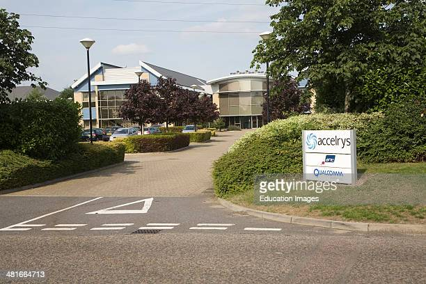 Modern hightech businesses located in Cambridge Science park Cambridge England founded by Trinity College in 1970 is the oldest science park in the...