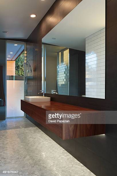 Modern home bathroom interior