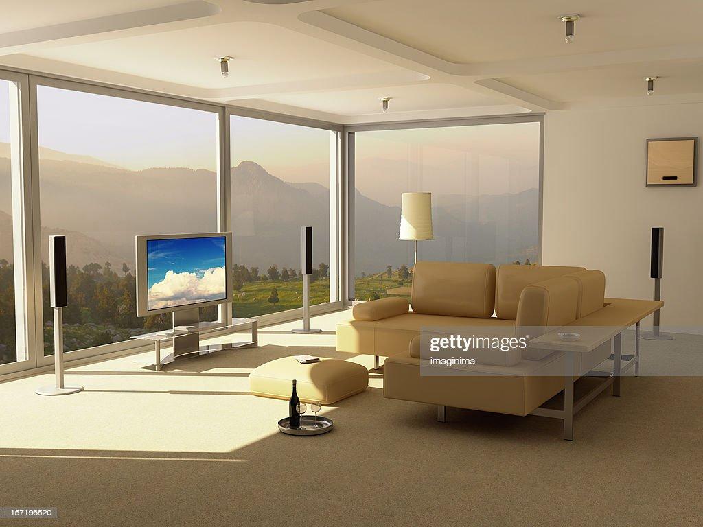 Modern Home Interior - Entertainment Center