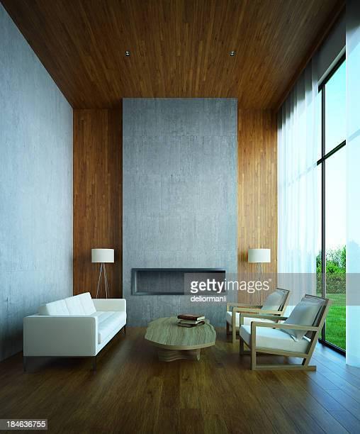 Modernes Haus Innenansicht