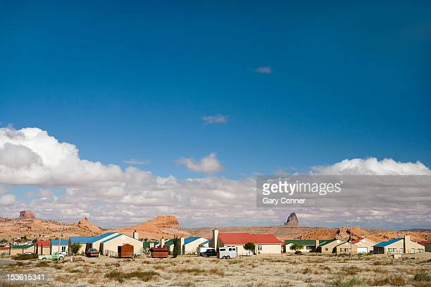 Modern Housing on a Navajo Reservation